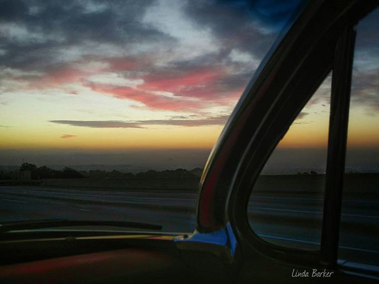 Headed to the Grandnationalroadstershow while Mother Nature puts on a show of her own thru the windshield of our 61chevy Impala Bubbletop Goodmorning California_igers