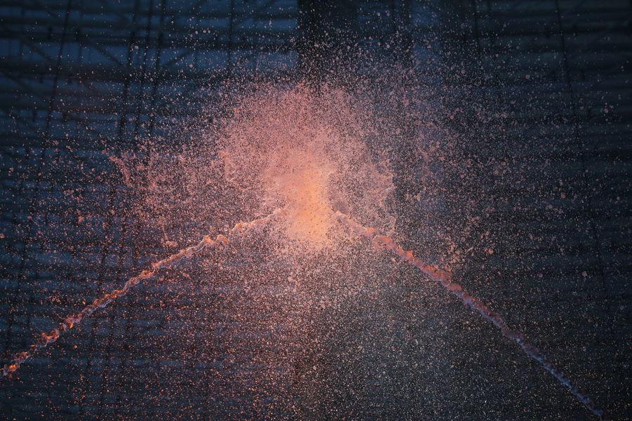 Colored Water Displaying Full Frame Galaxy Multi Colored Night Show Sky Splashing Splashing Water