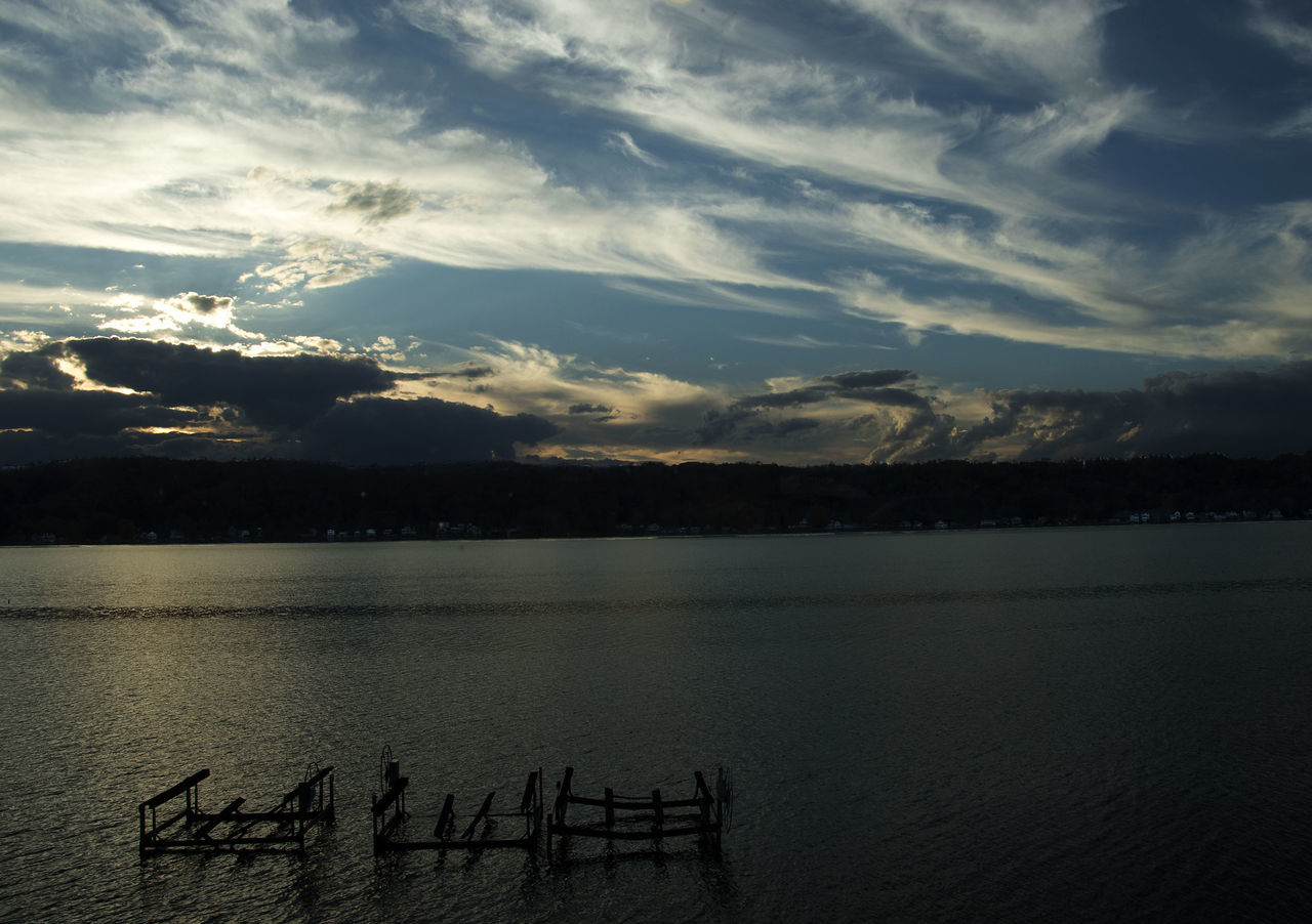 sky, cloud - sky, sunset, tranquility, water, scenics, no people, nature, outdoors, beauty in nature, day