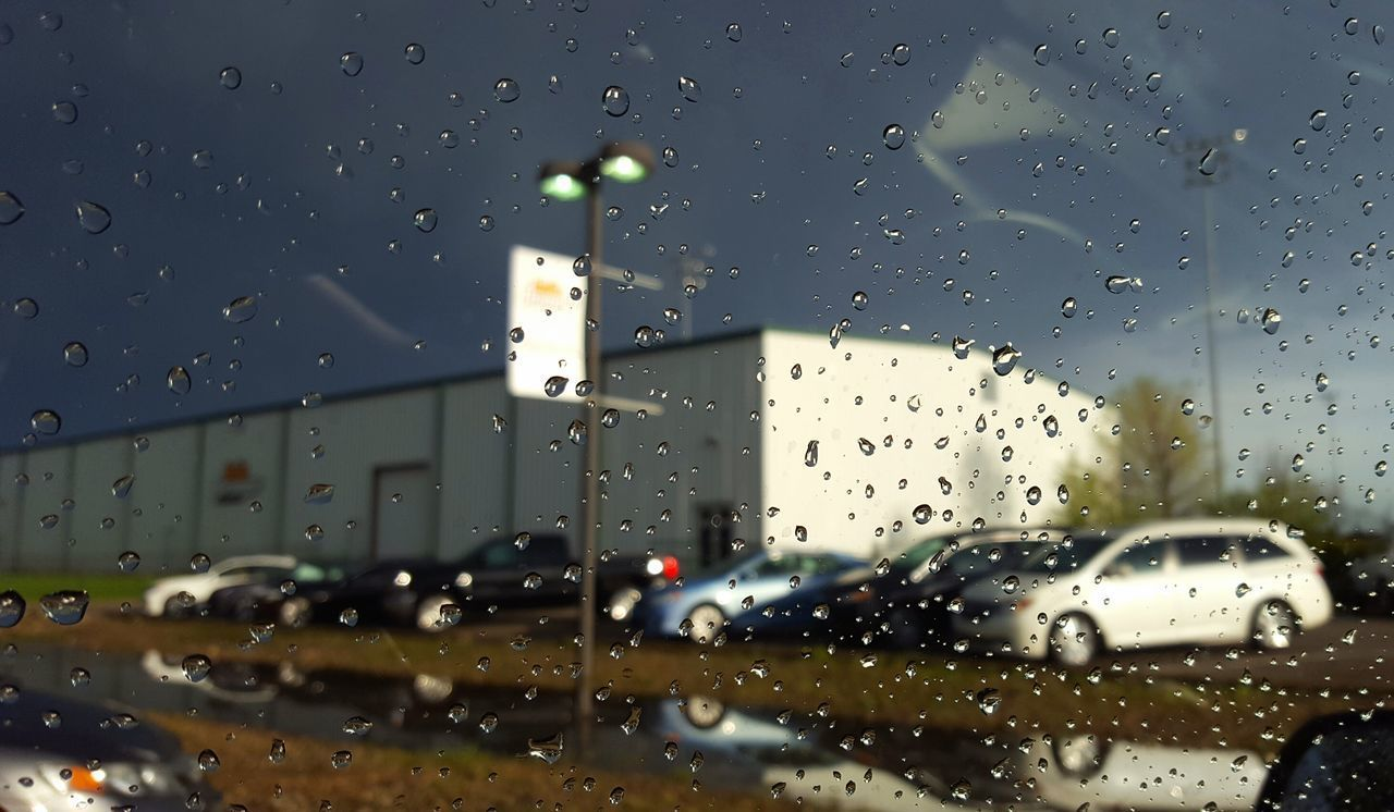 Window Rain Reflection Dusk Contrast Light And Dark Parking Parking LotOutdoors Puddle Reflection BYOPaper! Raindrops