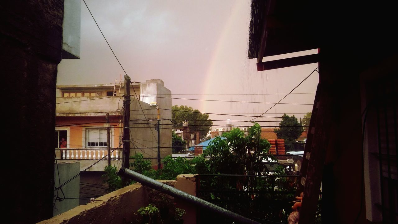 Cityscape No People Outdoors Architecture City Rainbow Arcoiris🌈 Sunset Argentina Photography Tree Argentinaphotography Summer Ivy Day First Eyeem Photo