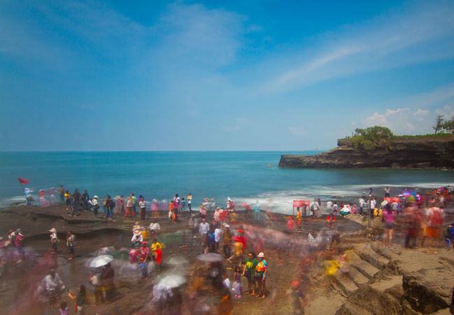 Motion Blur of tourist at Tanah Lot Temple in Bali Indonesia Adult Adults Only Beach Cloud - Sky Day Horizon Over Water Large Group Of People Long Exposure Motion Motion Blur Nature Nautical Vessel Outdoors People Scenics Sea Sky Slovenia Slow Shutter Tanah Lot Tanah Lot Bali, Indonesia Tanah Lot Temple Travel Destinations Vacations Water