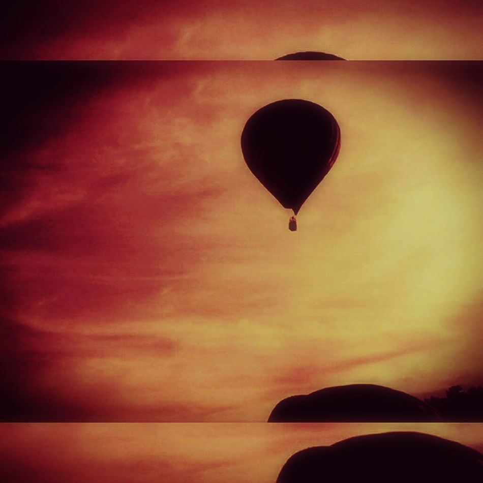 Hot Air Balloon Sky Nature Cloud - Sky Air Vehicle Fly Adventure Sunset Silhouette Dramatic Sky Transportation Outdoors Flying Balloonfiesta  Hot Air Balloons Warm Dreamscapes & Memories Sunset_collection TakeoverMusic
