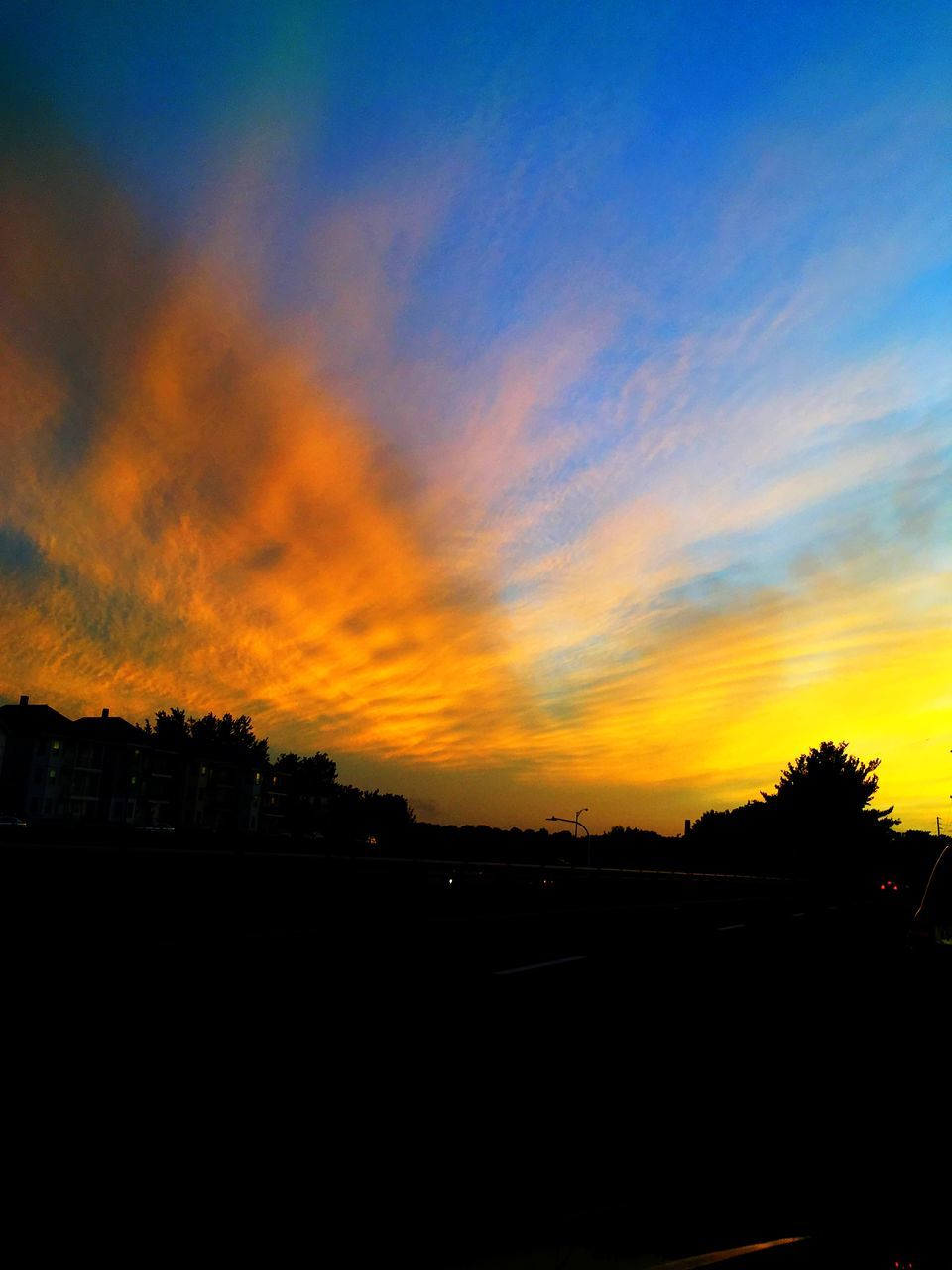 sunset, silhouette, sky, nature, no people, beauty in nature, scenics, tree, cloud - sky, tranquility, outdoors