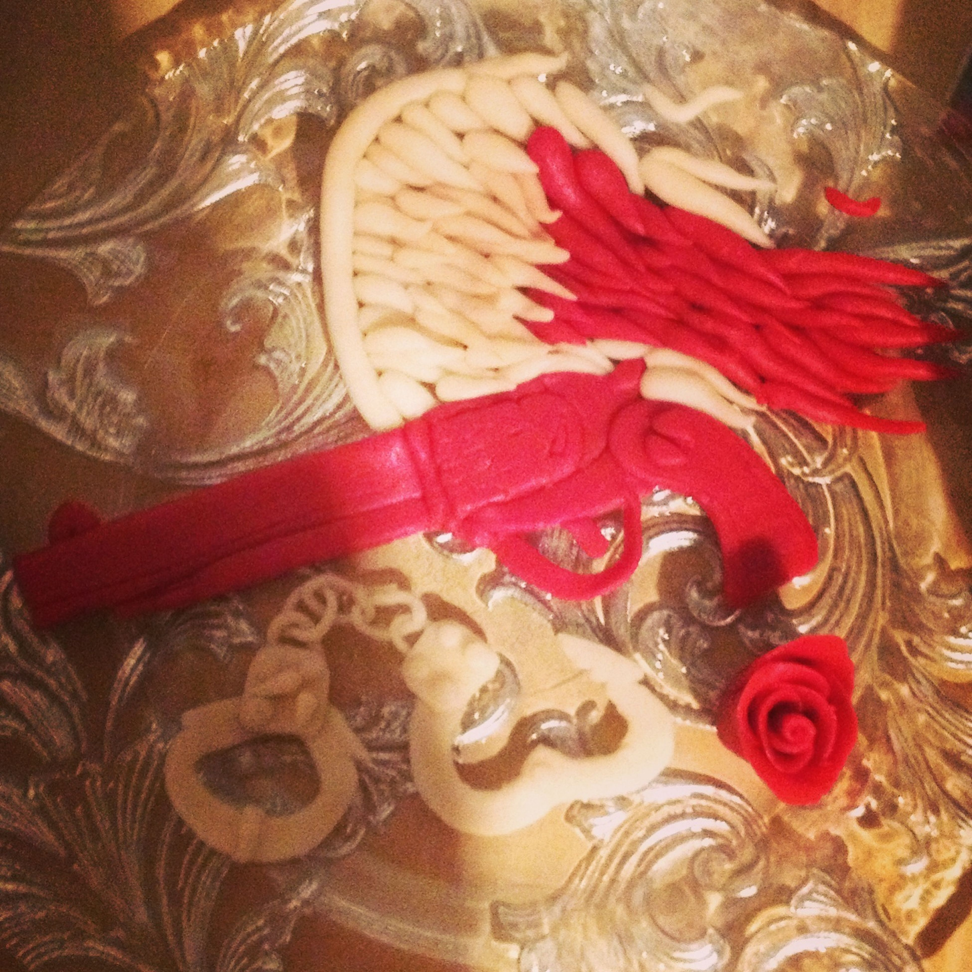 Marzipan Guns And Angel Birthday Present