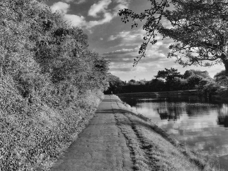 Footpath Black And White Black And White Collection  Nature Water Sky And Clouds Taking Photos From My Point Of View