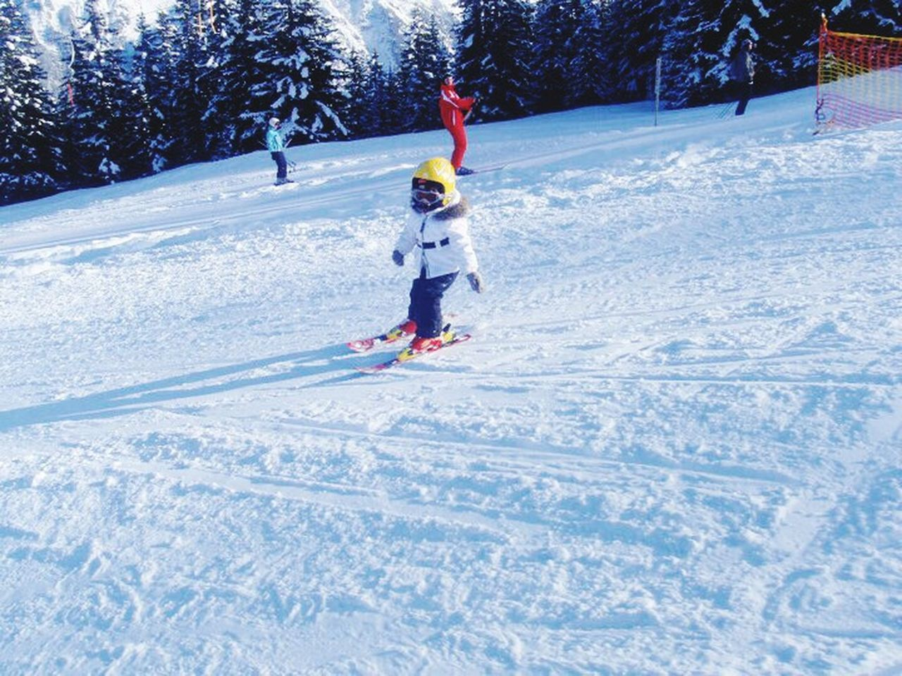 Ski There Years Old Girl Winter Snow Child Cold Temperature Children Only Childhood Fun Warm Clothing Full Length Leisure Activity Ski-wear Outdoors Playing One Boy Only People Winter Sport Ski Holiday Adventure Day