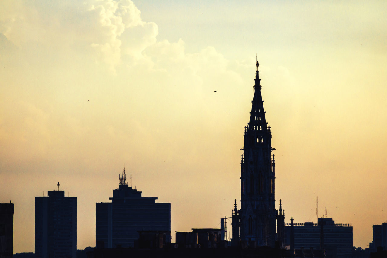 Architecture Bird Building Exterior Built Structure City Cloud - Sky Cuba Collection Day Dome No People Old Havana Outdoors Silhouette Sky Sunset Tower Travel Destinations