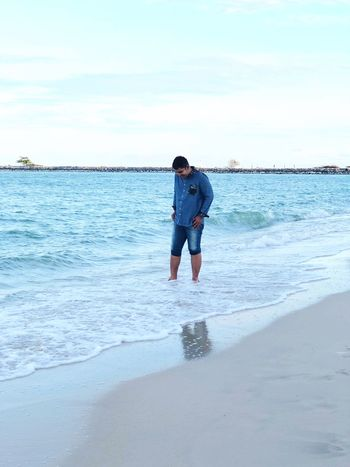 Beach Sea Full Length Real People One Person Leisure Activity Nature