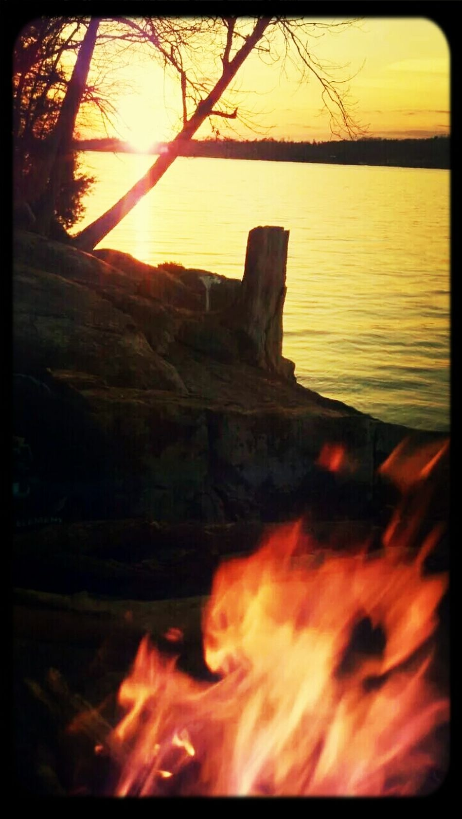 Sunset Relaxing Bonfire