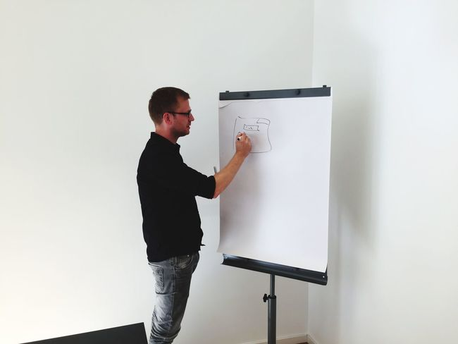 In A Meeting Business Meeting Smart Simplicity Whiteboard Creative Session