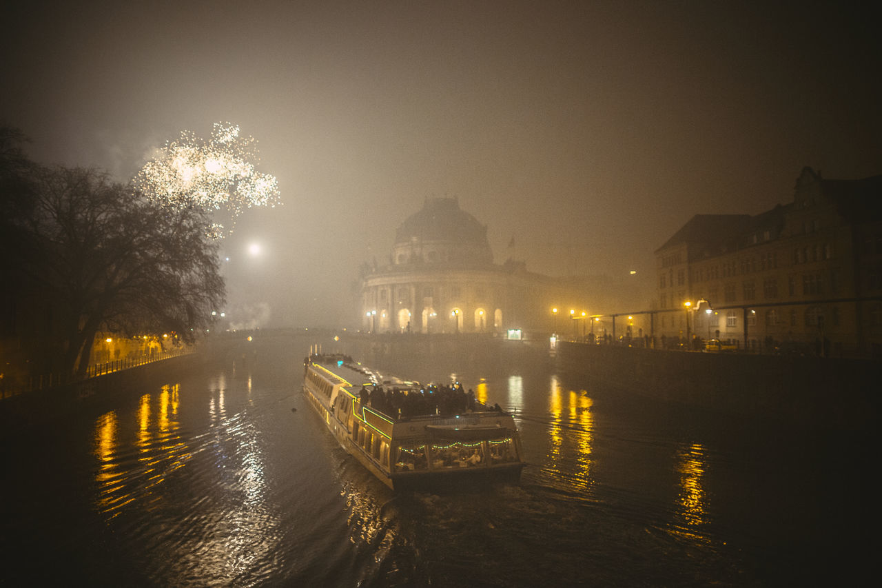 sulfur smog at new year Boat Building Exterior Calm City Life Fireworks Glowing Harbor Lake Light Mid Distance Moored Nautical Vessel New Year New Years Resolutions 2016 NewYear Pier Reflection Residential District Rippled River Smog Speed Sylvester Water Waterfront
