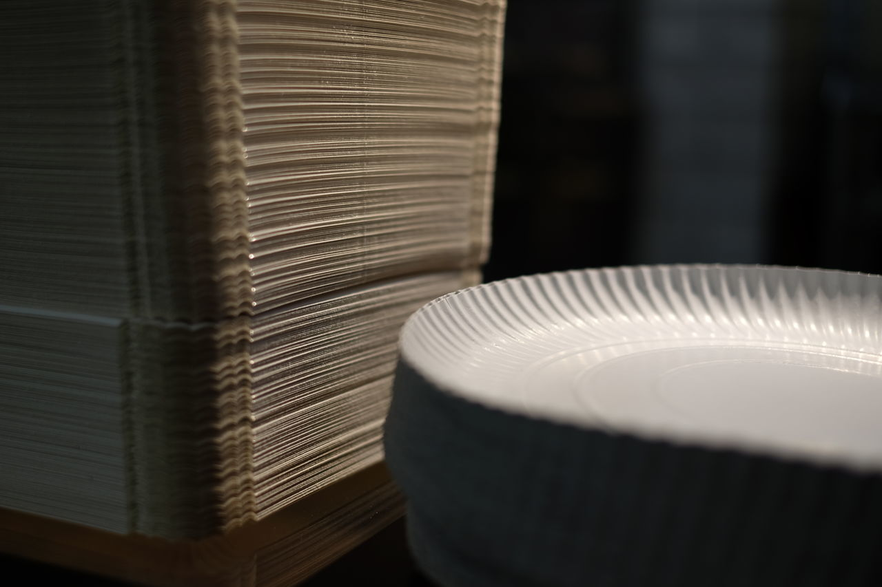 Close-Up Of Paper Plates