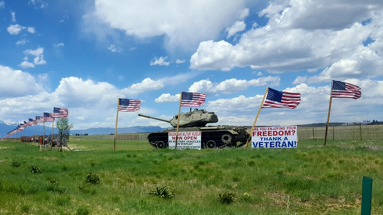 Dragon mans--- Military Military Vehicles Military History Memorialweekend No People American Flag American Flag Blowing In The Wind