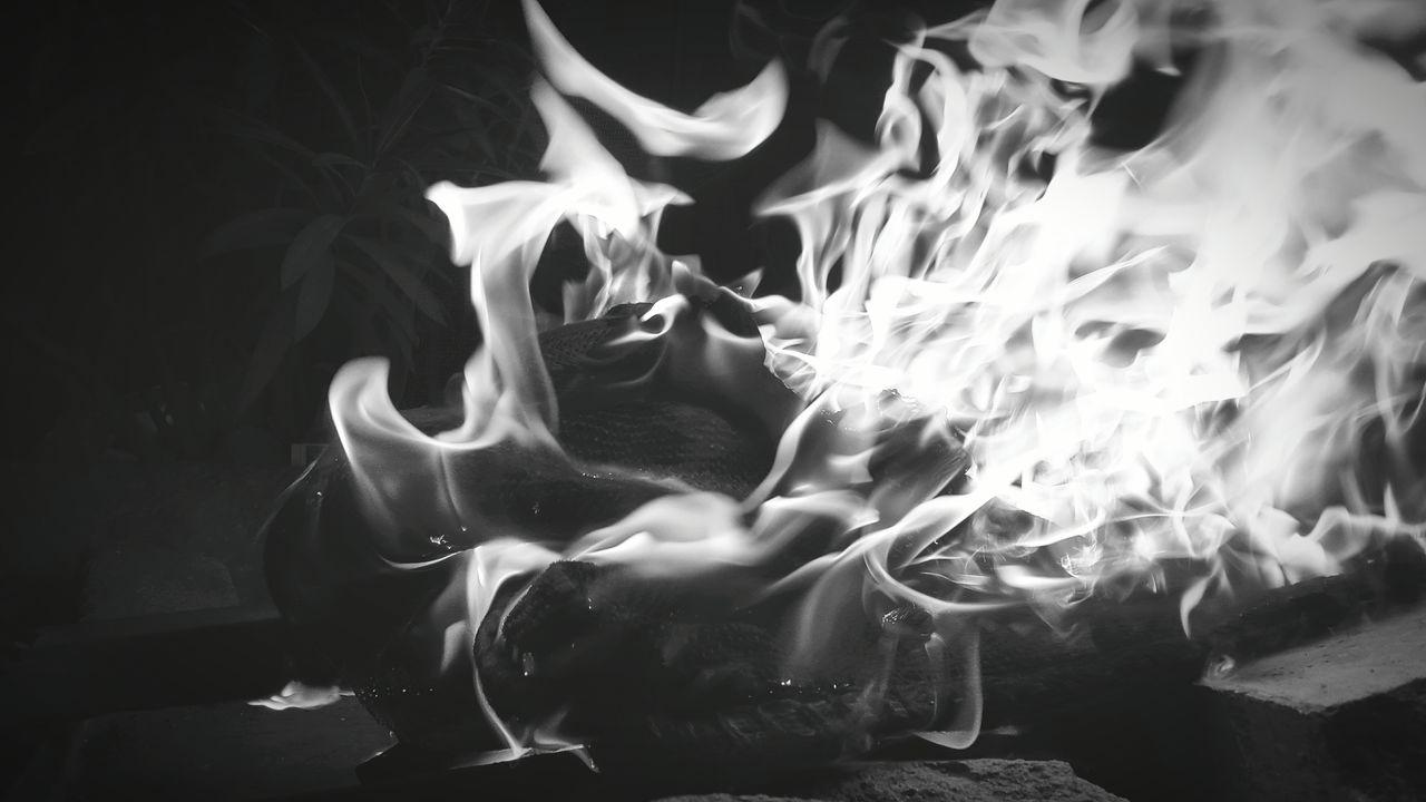 Flame Burning Heat - Temperature No People Motion Close-up Black Background Performance Night Photography Monochrome Photooftheday Followback Instagram VSCO Takingphotos GalaxyS5 Getty Images Blackandwhitephotography Eyeemmarket Followme Likeforlike Indian Likemypic Followforfollow