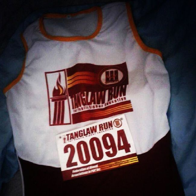 Singlet and race bib for TanglawRun Race
